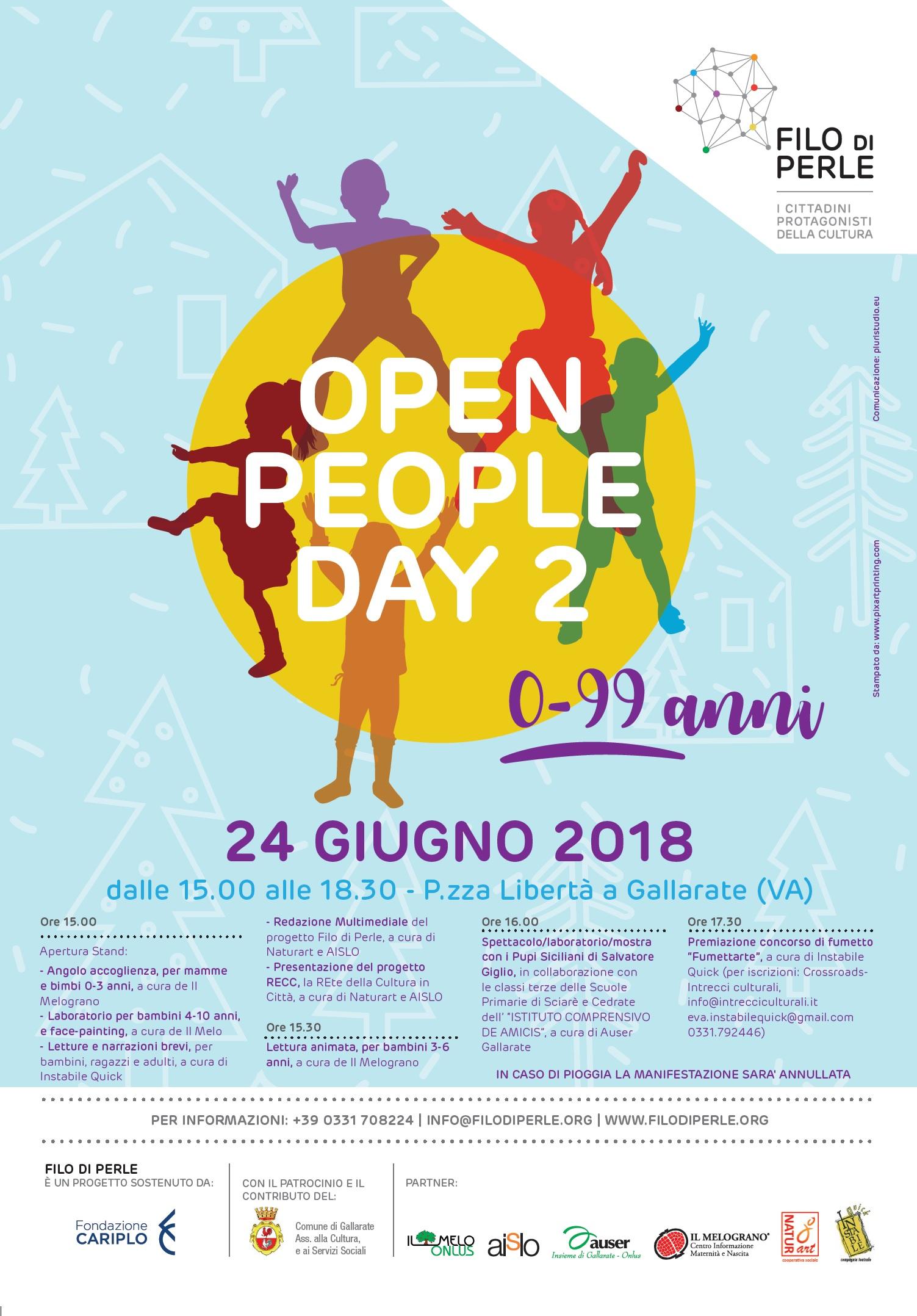 FILO DI PERLE - OPEN PEOPLE DAY 2 - 24 GIUGNO 2018